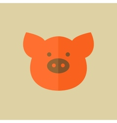 Pork food flat icon vector