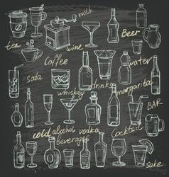 Hand beverages vector