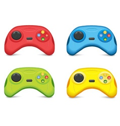 Color gamepad set vector