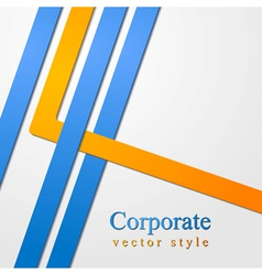 Abstract business corporate design vector