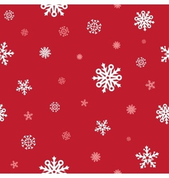 Snow red pattern vector