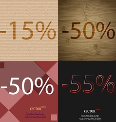 50 55 icon set of percent discount on abstract vector