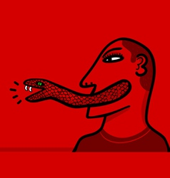Snake tongue vector