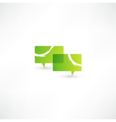 Talk concept speech bubbles icon vector
