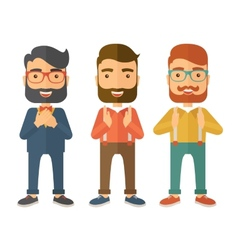 Three young handsome businessmen vector