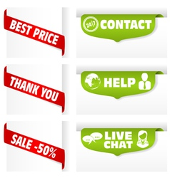 Banner tag signs vector