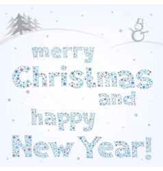 Snow xmas text vector