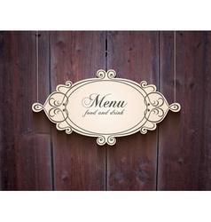 Vintage wood cover background for menu vector