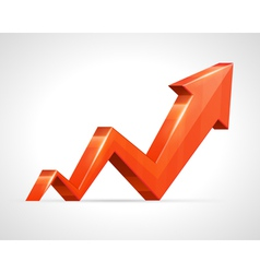 3d growth arrow graph vector
