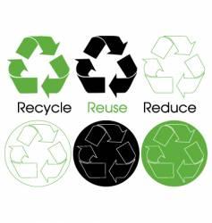 Six recycle symbols vector