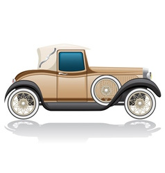 Old retro car vector