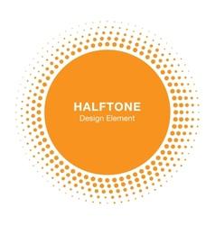 Sunny halftone design element vector
