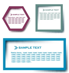 Text box vector