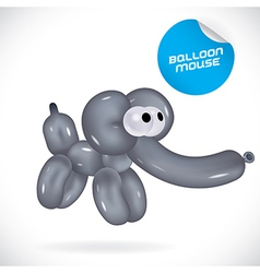 Glossy balloon mouse vector