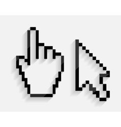 Mouse hand and arrow cursor set vector