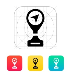 Best place icon on white background vector