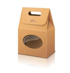 Blank realistic craft paper packaging bag with vector