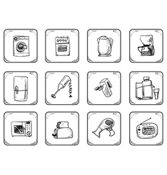 Household equipment icons vector