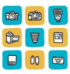 Icon cameras vector