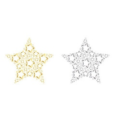 Colored stars vector