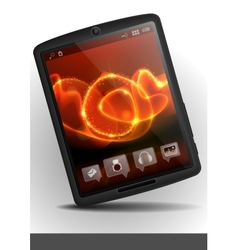 Stylish tablet computer vector