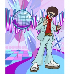 Disco man vector
