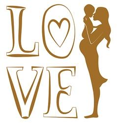 Pure love print vector