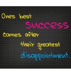 Best success vector