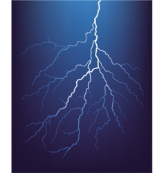 Lightning bolt at night vecto vector