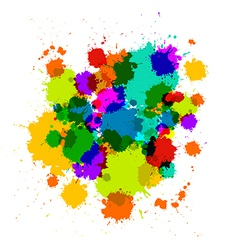 Colorful transparent stains blots splashes vector