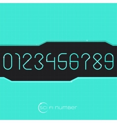 Sci fi number vector