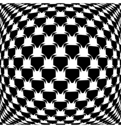 Design monochrome warped grid pattern vector