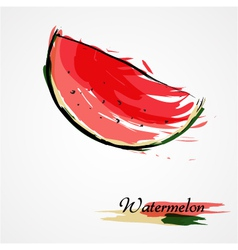 Watermelon fruit slice vector