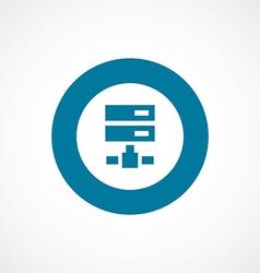 Net drive bold blue border circle icon vector