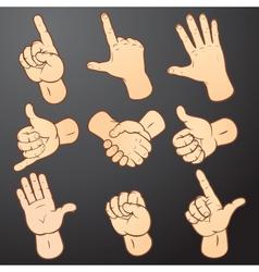 Hand signals vector