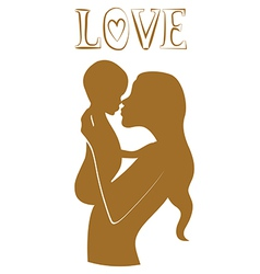 Pure love young mother with baby vector
