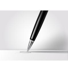Realistic pen vector