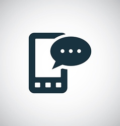 Mobile message icon vector