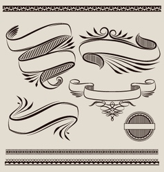 Ribbon swirl vector