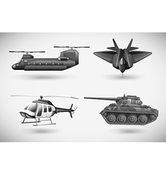 Military aircrafts vector