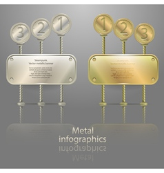 Infographics in metal style vector