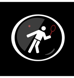 Tennis sport button symbol vector