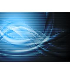Dark blue wavy backdrop vector