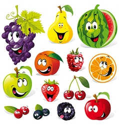 Funny fruit cartoon vector