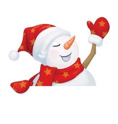 Snowman fun vector