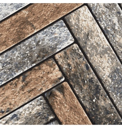 Stone pavement texture vector