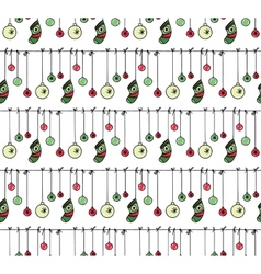 Hand drawn new year and christmas pattern vector