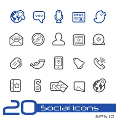 Social media outline series vector