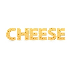 Cheese word of cheese vector