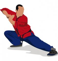 Wushu master vector